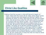 christ like qualities