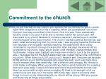 commitment to the church