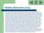 healthy balanced living