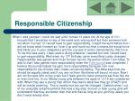 responsible citizenship