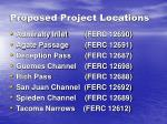 proposed project locations