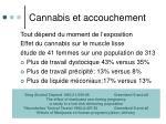 cannabis et accouchement