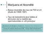 marijuana et f condit