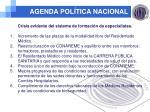 agenda pol tica nacional