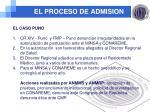 el proceso de admision