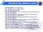 revision del marco legal