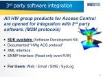 3 rd party software integration