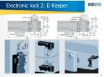 electronic lock 2 e keeper
