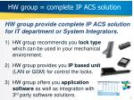 hw group complete ip acs solution