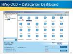 hwg dcd datacenter dashboard