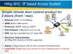 hwg sh2 ip based access system