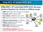 hwg sh3 ip based rfid acs