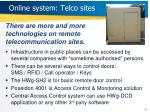 o n line system telco sites