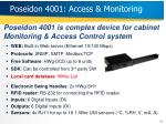 poseidon 4001 access monitoring