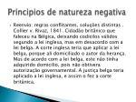 principios de natureza negativa