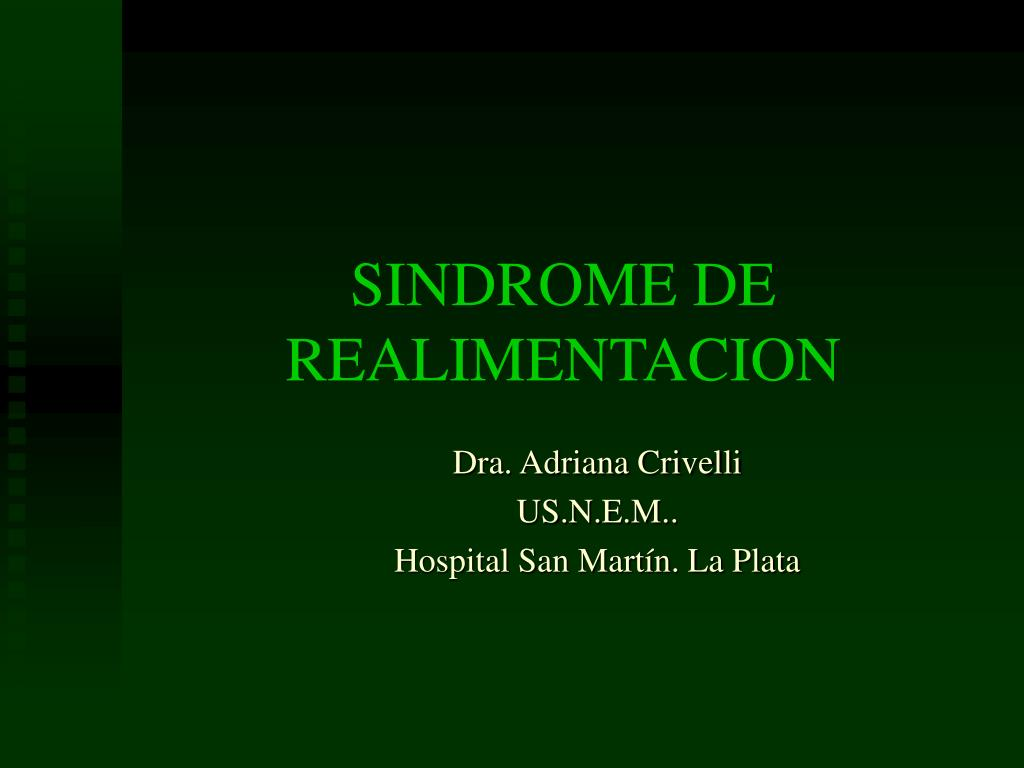 sindrome de realimentacion l.