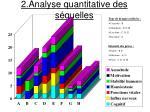 2 analyse quantitative des s quelles
