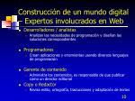 construcci n de un mundo digital expertos involucrados en web10