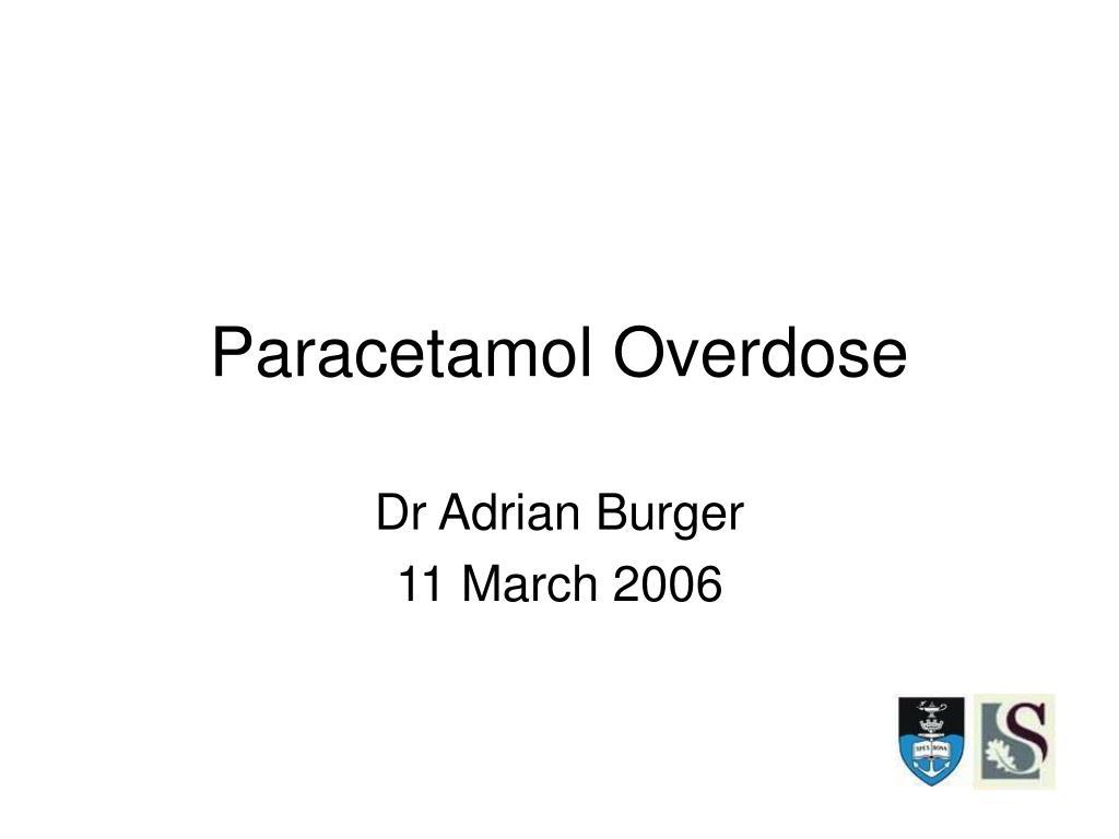 paracetamol overdose l.