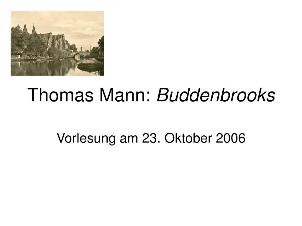 thomas mann buddenbrooks l.