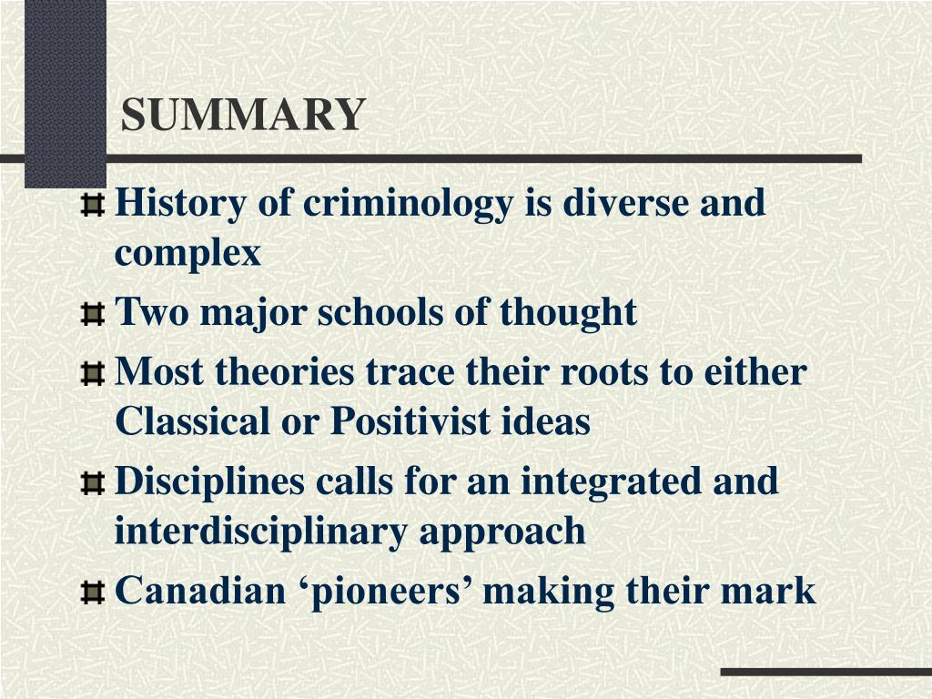 compare and contrast classical and positivist schools of criminology