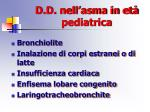 d d nell asma in et pediatrica