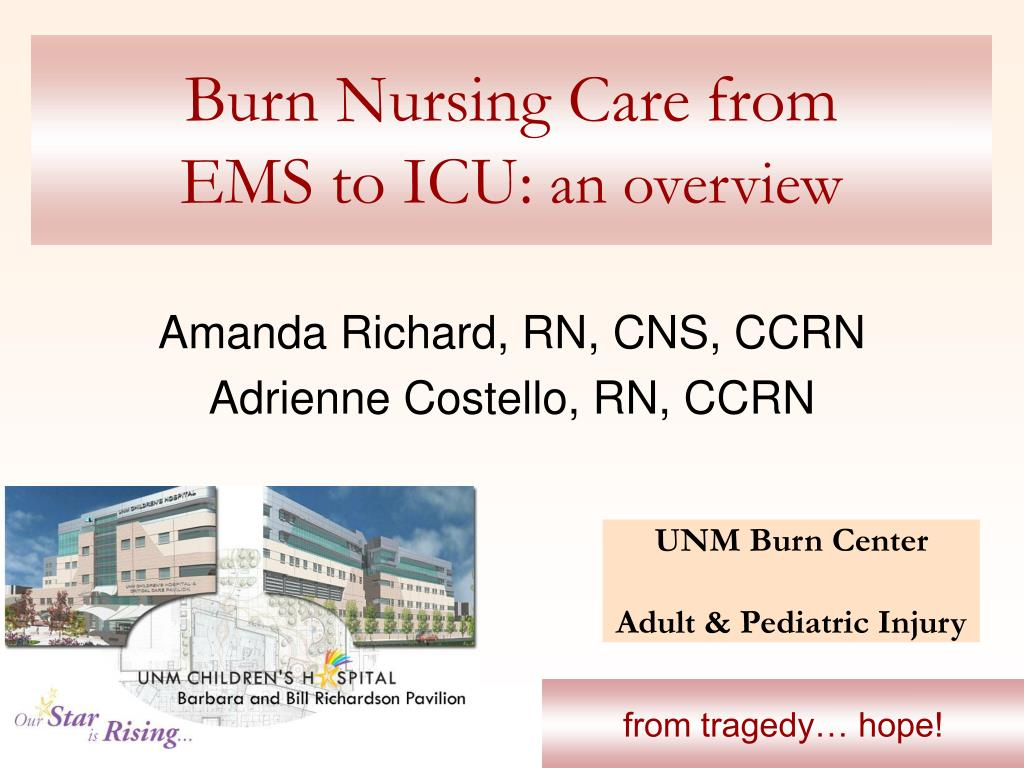 burn nursing care from ems to icu an overview l.