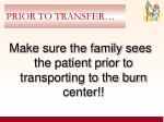 prior to transfer