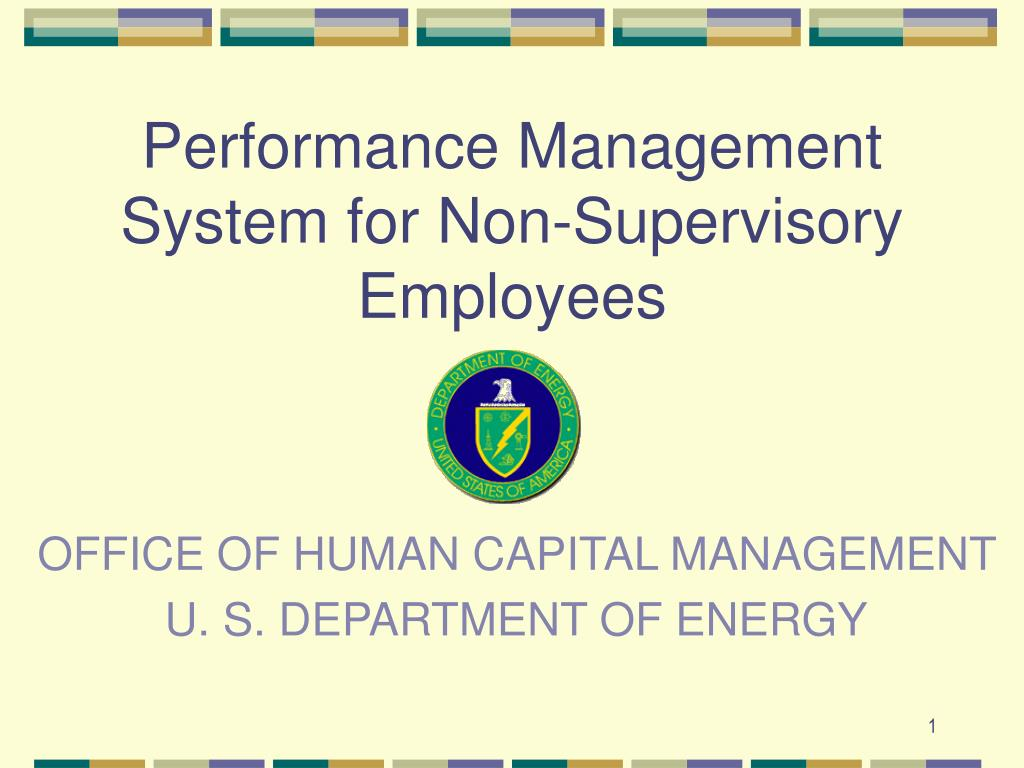 office of human capital management u s department of energy l.