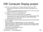 dfe computer display project