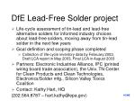 dfe lead free solder project