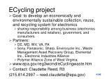 ecycling project