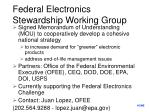 federal electronics stewardship working group