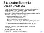 sustainable electronics design challenge
