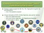 preparing 21st century government leaders experienced fellow students