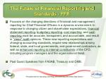 the future of financial reporting and standards ffr