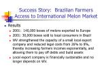success story brazilian farmers access to international melon market31