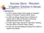 success story morulem irrigation scheme in kenya