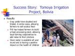 success story tomoya irrigation project bolivia34
