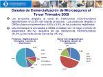 canales de comercializaci n de microseguros al tercer trimestre 2009