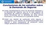 conclusiones de los estudios sobre la demanda de seguros