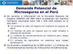 demanda potencial de microseguros en el per