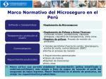 marco normativo del microseguro en el per