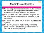multiples materiales