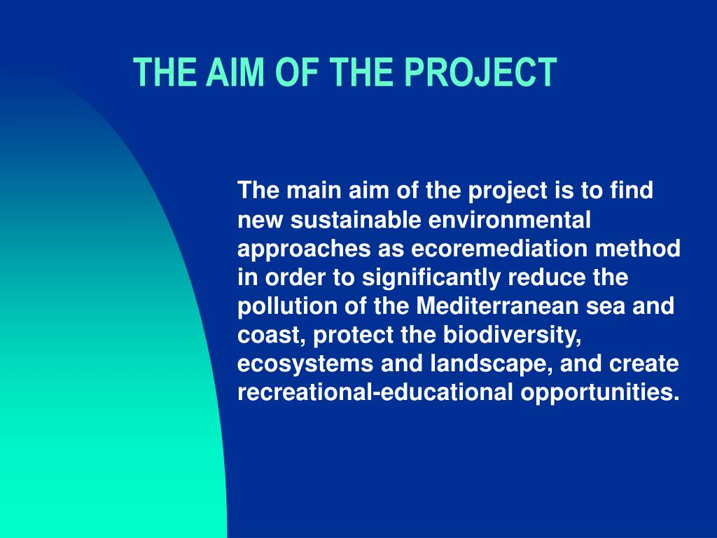 the aim of the project l.