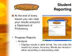 student reporting