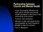 partnership between church and mental health