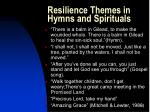 resilience themes in hymns and spirituals