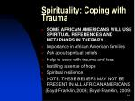 spirituality coping with trauma