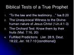 biblical tests of a true prophet18